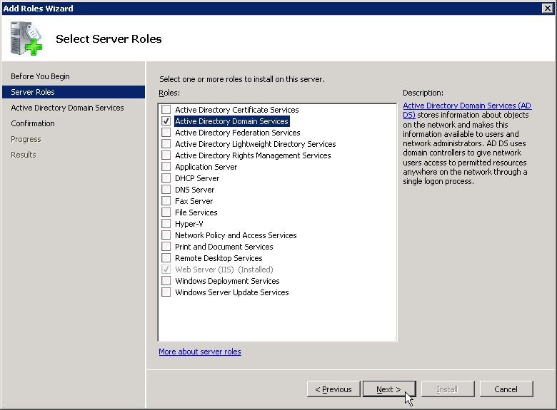comment installer active directory sur windows server 2008 r2 la r ponse est sur. Black Bedroom Furniture Sets. Home Design Ideas